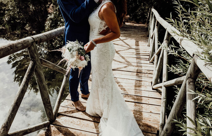 O visual dos noivos