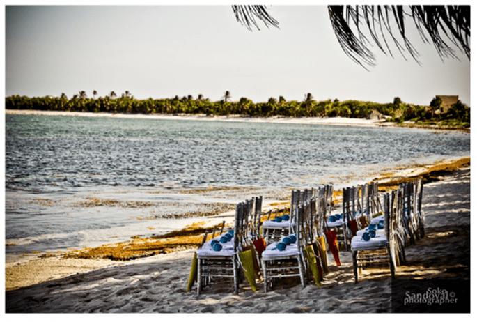 #martesdebodas: Cómo decorar una boda en la playa - Foto Soko Sandoval