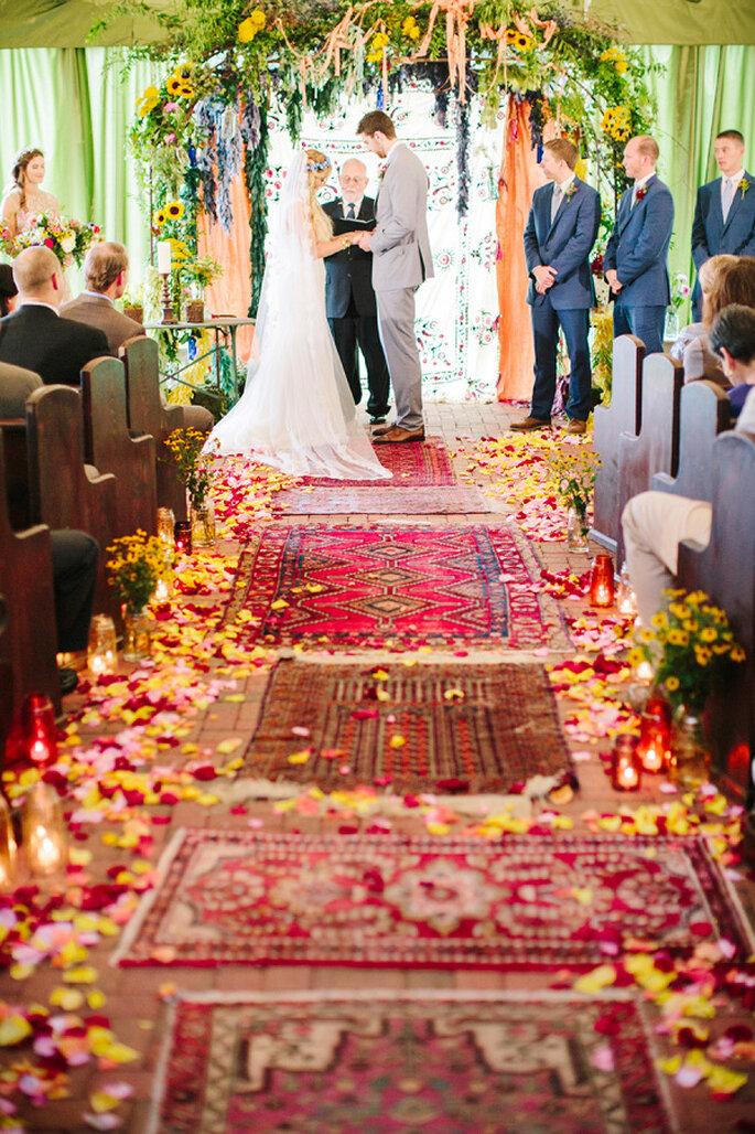 Decoración para un mágico camino hacia el altar - Millie Holloman Photography