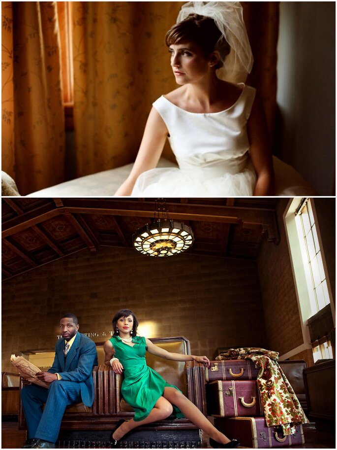 Top: Photo by Megan W Photography via Ruffled Blog  Bottom: Photo by Callaway Gable New-Fashioned Photography