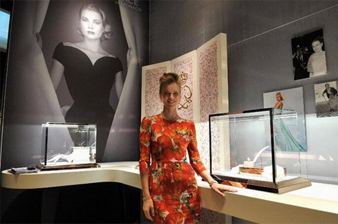Eva Herzigova en la presentación de la joyería MontBlanc en honor a Grace Kelly - Foto: Facebook oficial MontBlanc