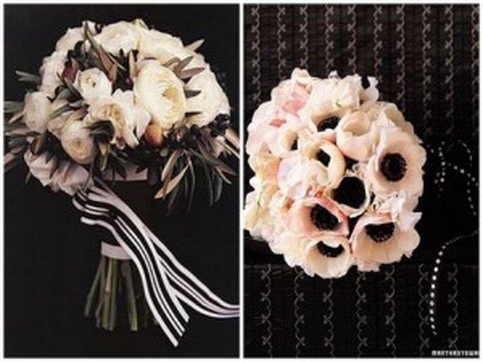 Izquierda, foto de Eventos Ham Heather. Derecha, foto de bodas de Martha Stewart