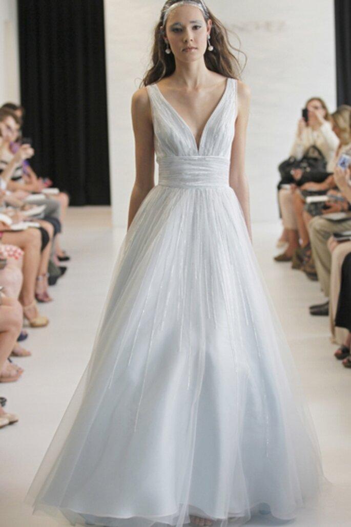 Robe de mariée bleue - Photo Angel Sanchez 2013