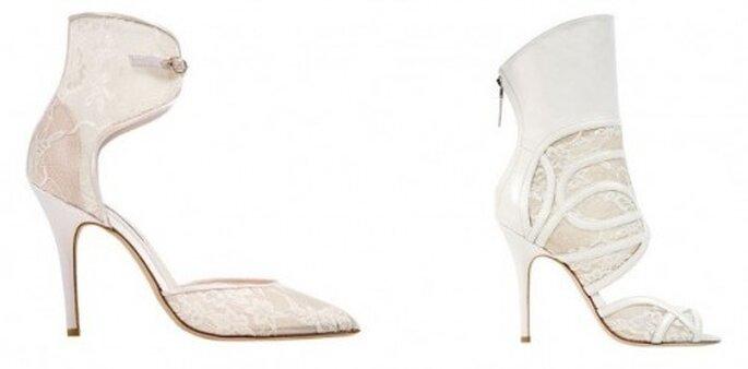 Chaussures de mariée Monique Lhuillier : la touche dentelle qui fait la différence