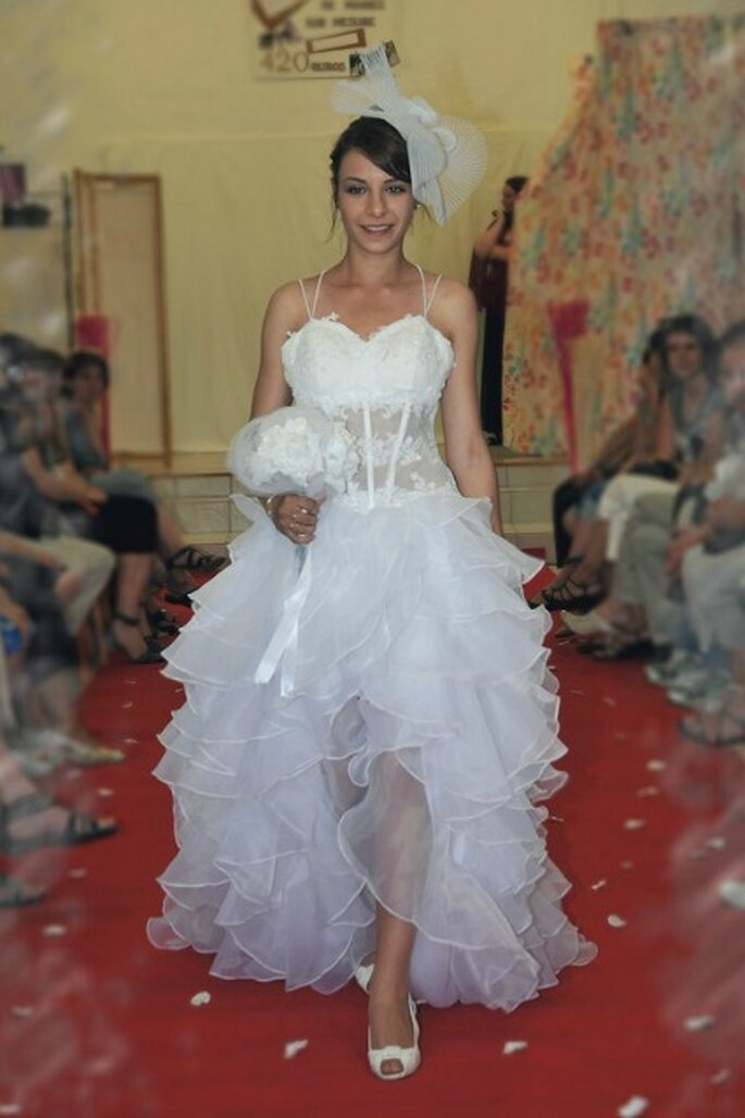 Robe de mariée Au coeur d'un rêve, modèle Andromede - Photo : Au coeur d'un rêve
