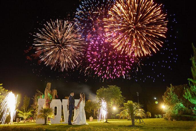 Eventos y Bodas RM fuegos artificiales boda