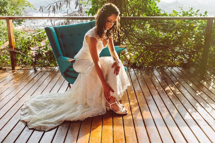 Ensaio da noiva na praia