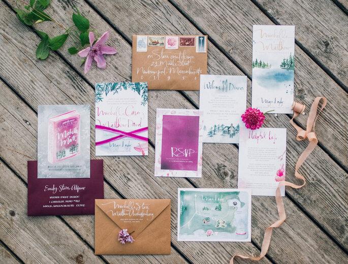 Los 9 mandamientos de las invitaciones de boda perfectas - Justin & Mary