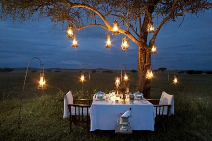 Carpas diferentes para tu boda - Lámparas de aceite con soporte