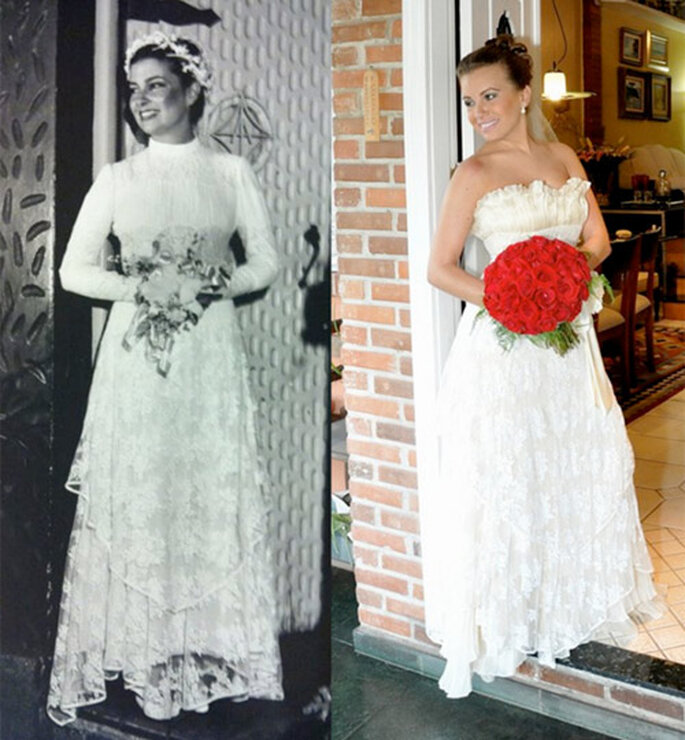 Regina da Matta et sa fille : même robe, même pose. - Photo : Reprodução