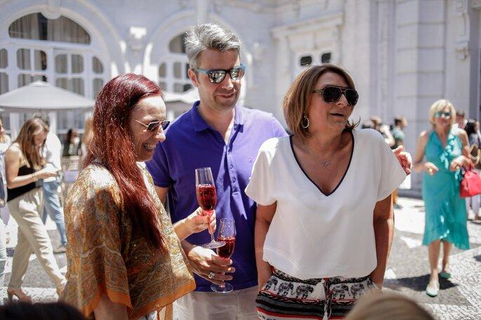Recepção do desfile Gio Rodrigues integrado no evento breakfast Wedding Club. Foto: Ludgi Fotógrafos