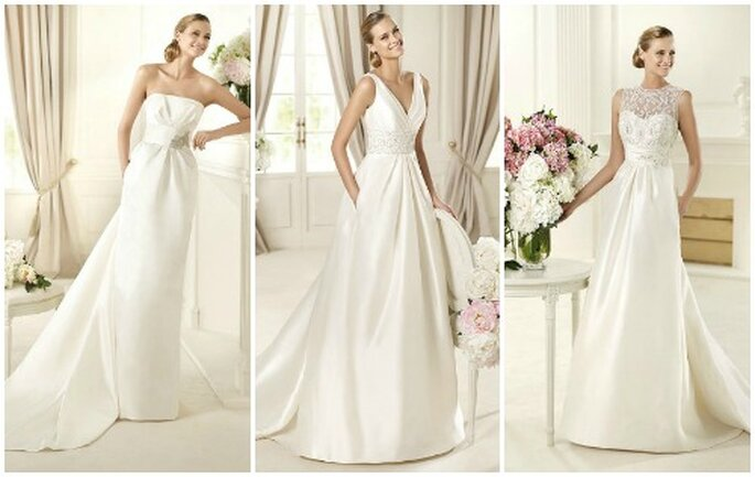 Proposte sobrie ed eleganti per una sposa chic. Pronovias Collezione 2013. Foto: www.pronovias.com