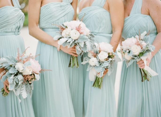 Colores de moda para vestidos de damas de boda 2013. Fotografía KT Merry