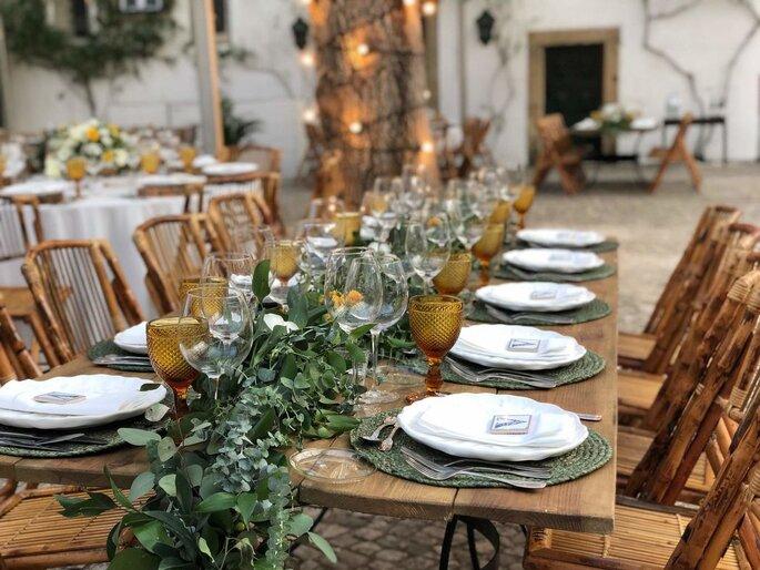 BC Planning & Rentals   Decoração - mesa de casamento decorada