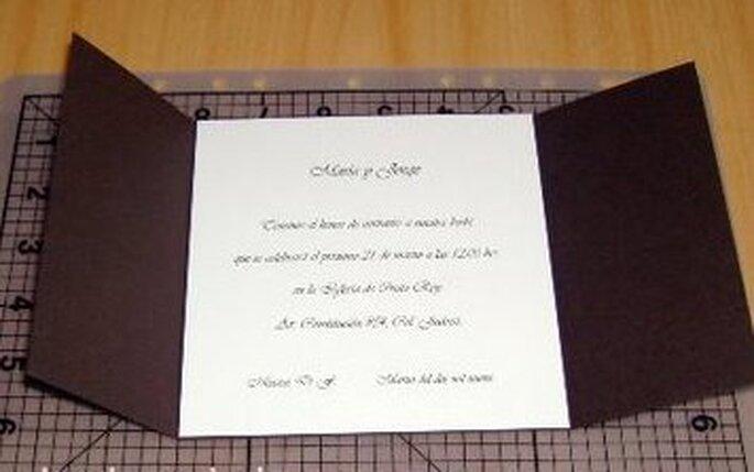 La parte centrale dell'invito con il testo