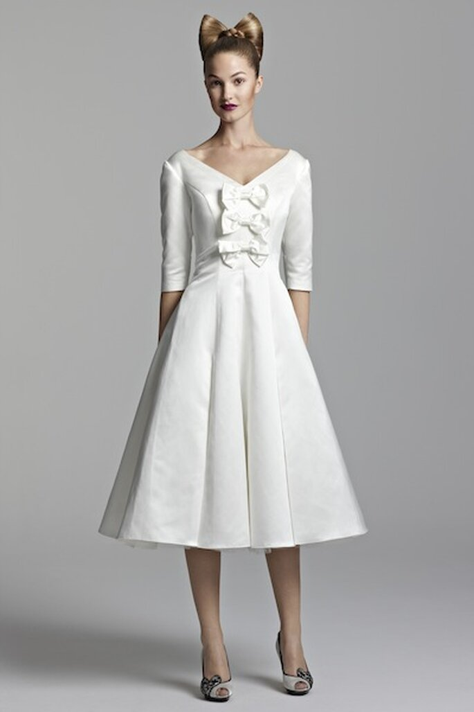 Short wedding dresses from tobi hannah for spring 2012 for Short wedding dresses 2012
