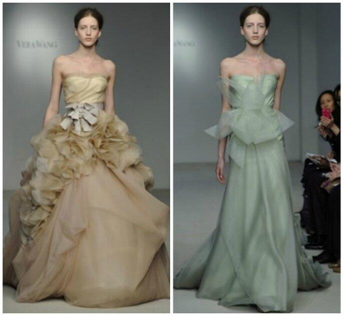 Vestidos de novia de colores para 2012. Foto: Vera Wang