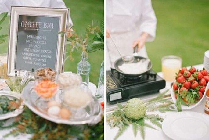 Ein Buffet zur Hochzeit kommt immer gut an - Foto: jillthomasphotography