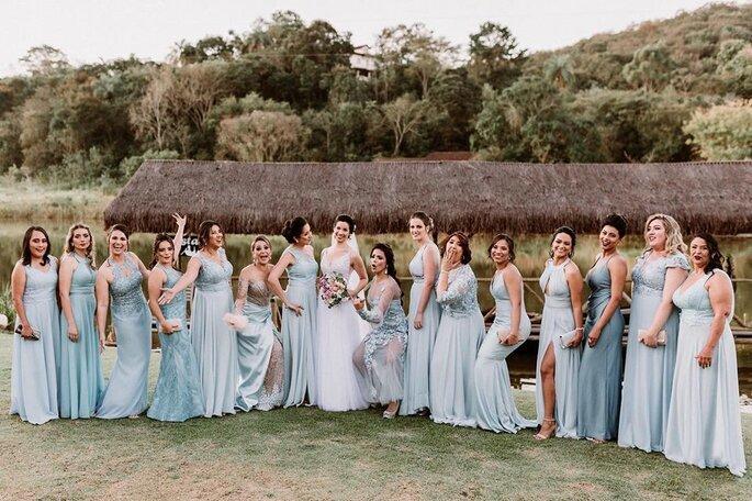 Madrinhas e noiva em casamento em BH