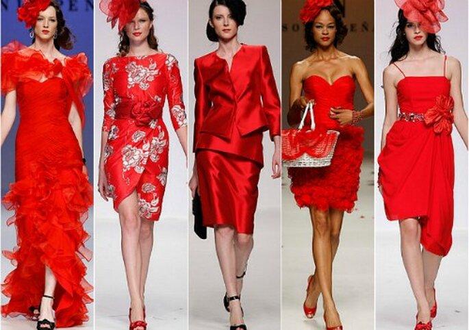 ¿Buscas un vestido de fiesta de color rojo para tu próxima boda?
