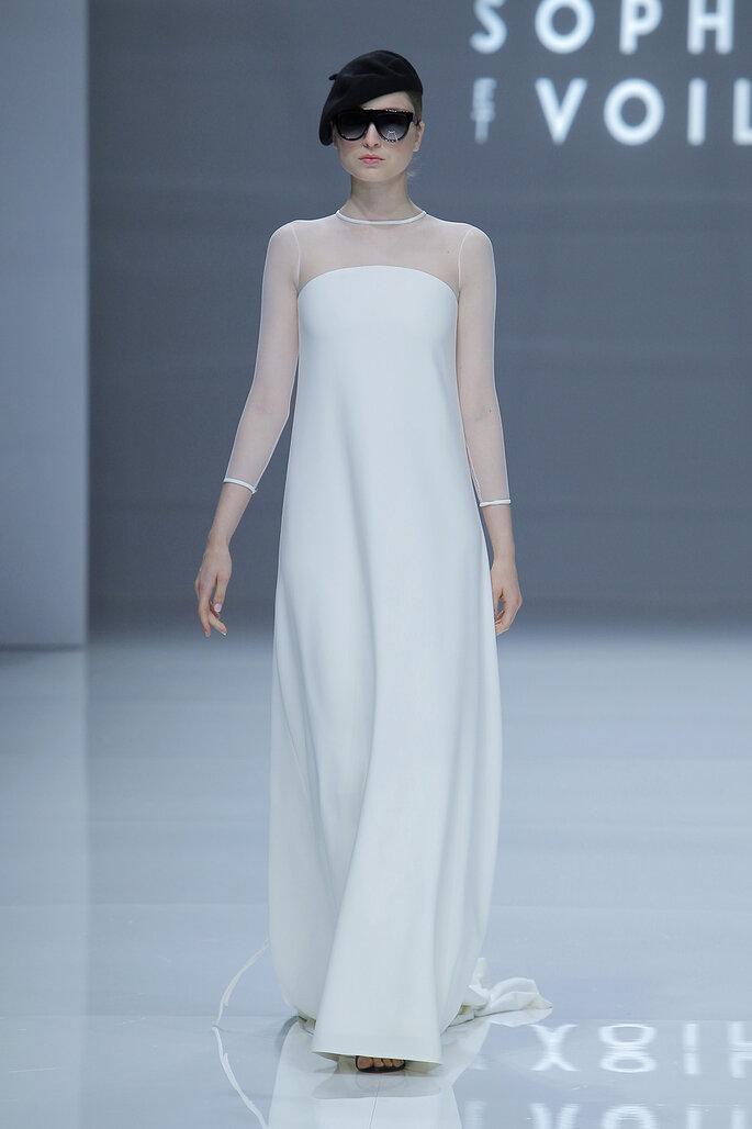 Robe de mariée simple et droite