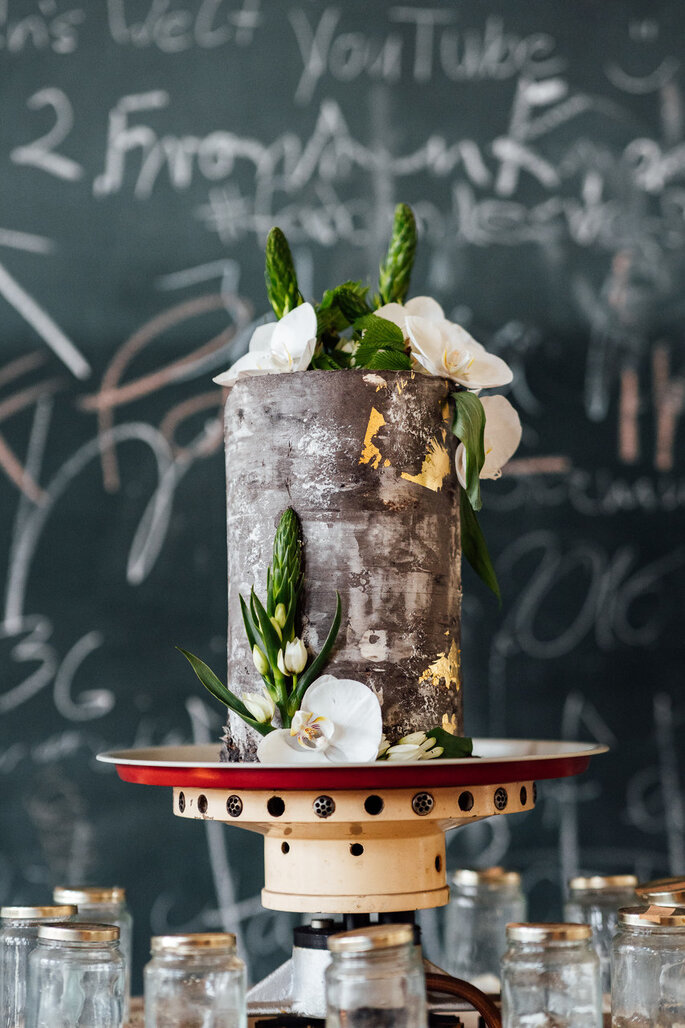 Hochzeitsstil Urban und Modern Torte