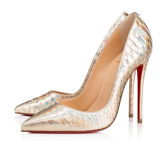 Chaussures de mariée dorées à très hauts talons