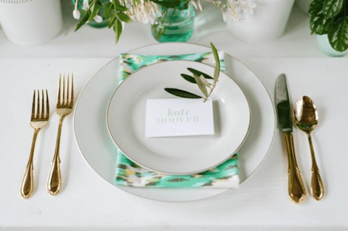 El color verde será un gran aliado en los montajes de tu boda - Foto Jeff Loves Jessica