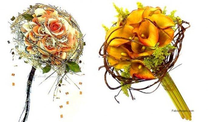 Ramos de novia. Fotos Favio Reyes, diseño en flores.
