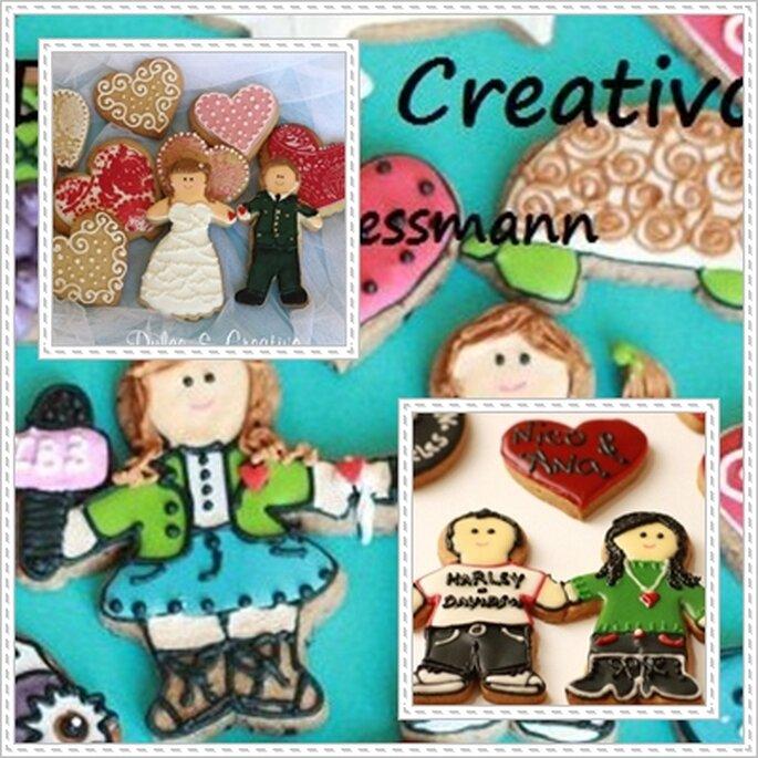 Novios de galleta de Dulce y Creativo. Foto: Dulce y Creativo