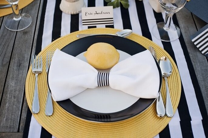 Striped Decor - Photo: Stephanie Saul Photography