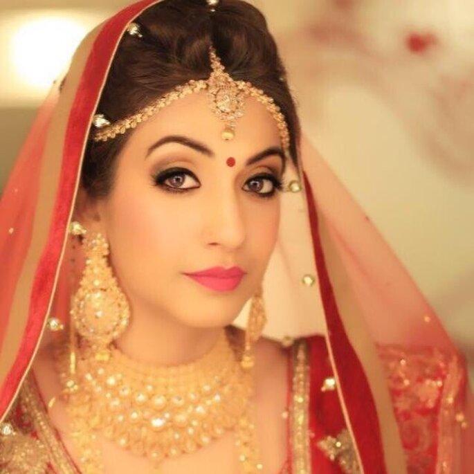 Photo: Tejasvini Chander makeup artist.