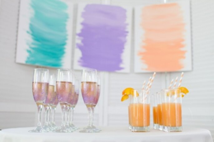 A watercolour inspired wedding - Photo: CJ's off the square