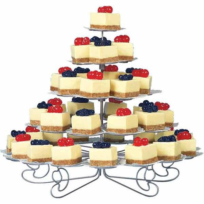 Cheesecake version carrée à servir à un mariage