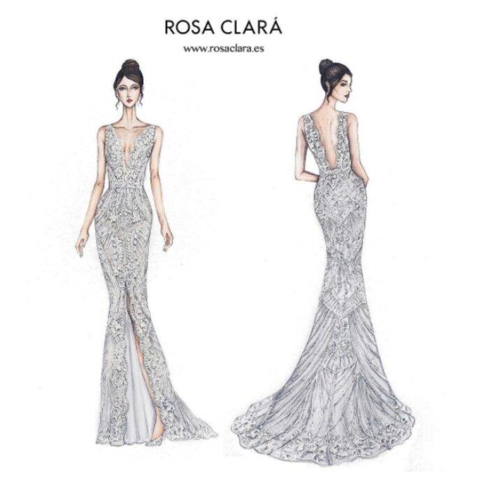 Segundo vestido Rosa Clará
