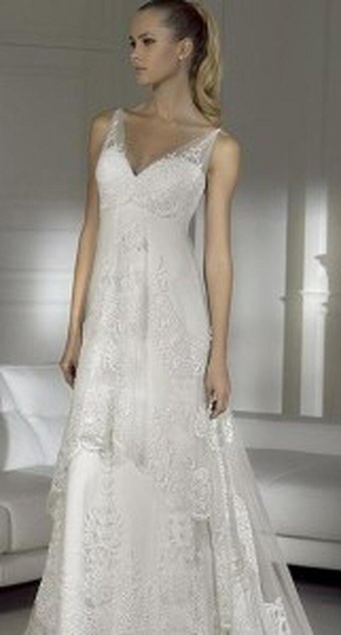 Un vestido con estilo corte imperio