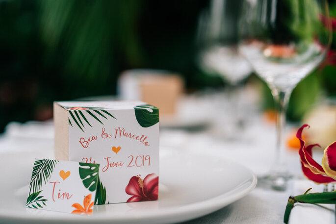 Hochzeitsdekoration Tropical Hochzeit