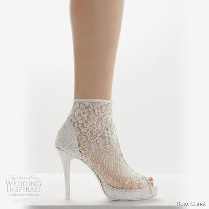 Chaussures de mariée en dentelle Rosa Clará