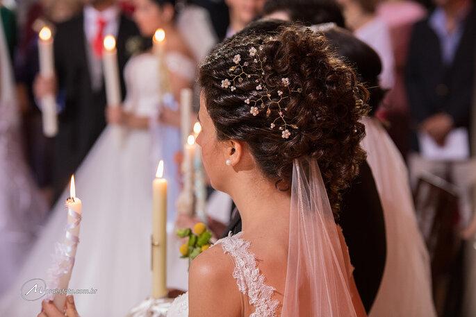 penteado noiva em casamento coletivo