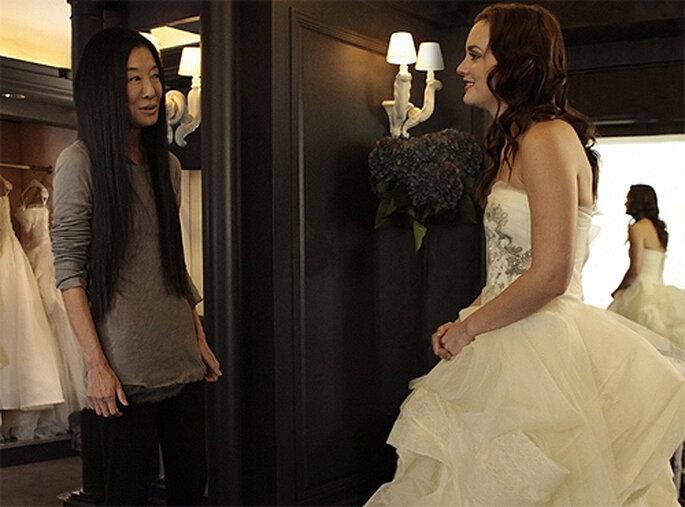 Blair Waldorf y Vera Wang en el rodaje de 'Gossip Girl'. Foto: Vera Wang