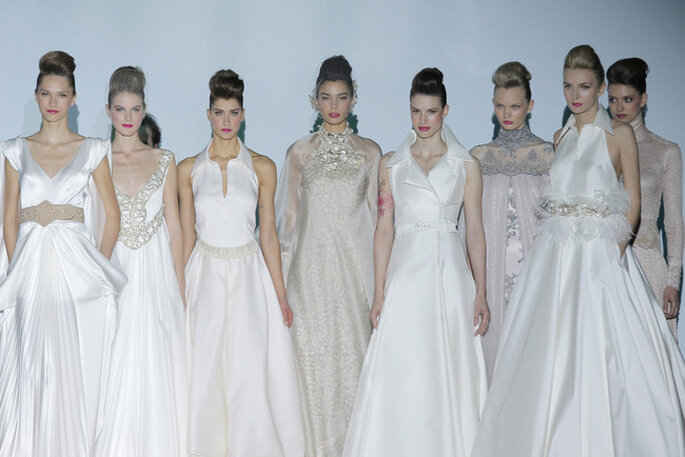 Collection de robes de mariée Isabel Zapardiez 2014. Photo: Barcelona Bridal Week