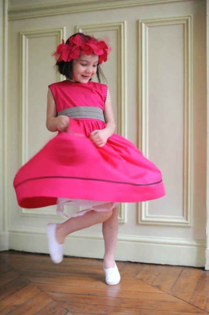 Exquise cette robe fuschia - source : Les fées pimentées
