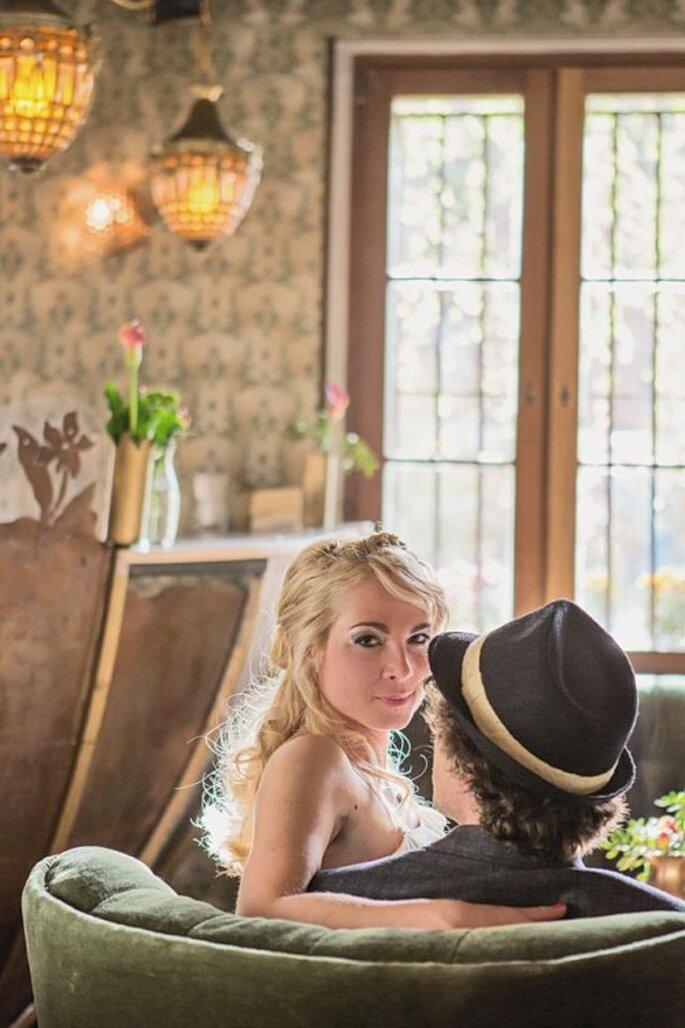 Upcycling tendencia en centros de mesa de boda