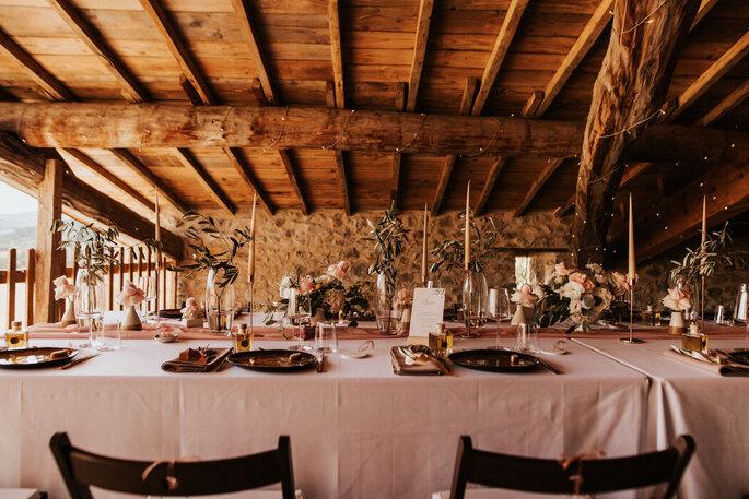 Une décoration très nature-chic pour un mariage