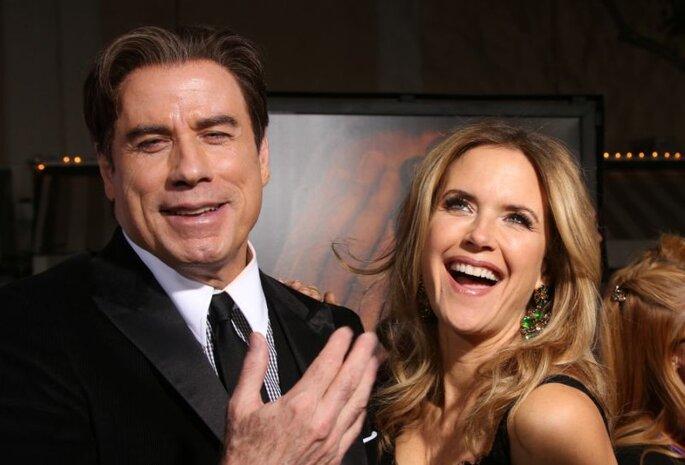 John Travolta und Kelly Preston
