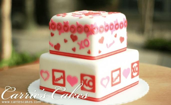 Pastel de fondant para hornear en tu despedida de soltera - Foto Carri'es Cakes
