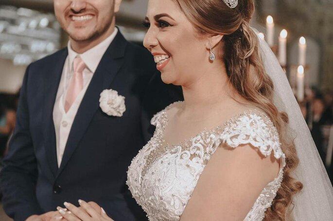 Noiva linda na cerimônia