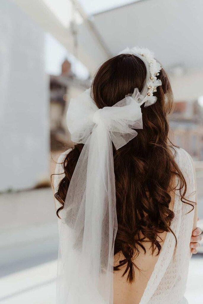 Voile de mariée noeud