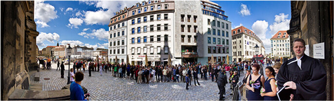 Heiraten in traumhafter Umgebung: Panoramabild in der Altstadt. - Foto: Torsten Hufsky.