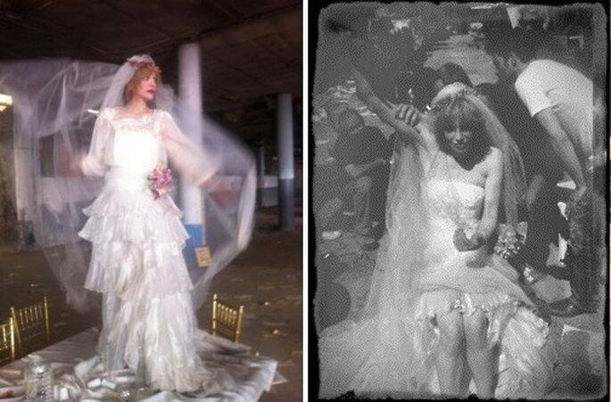 El velo y la corona son dos iconos en su 'look bridal'. Foto: WCWT.
